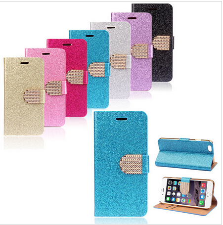 Luxury Bling Glitter Wallet Flip Leather Case Cover For iPhone 6 4.7(China (Mainland))