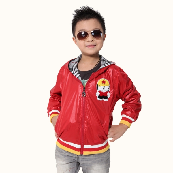 Fashion Kids Coats Newest Style Children Spring Autumn Jackets Large Size High Quality Casual Boys Outerwear Solid Color(China (Mainland))