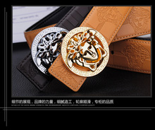 2015 Hot hommes ceintures ceintures de marque de luxe des hommes de haute qualité en cuir ceintures pour hommes or argent boucle 4 couleur ceintures homme(China (Mainland))