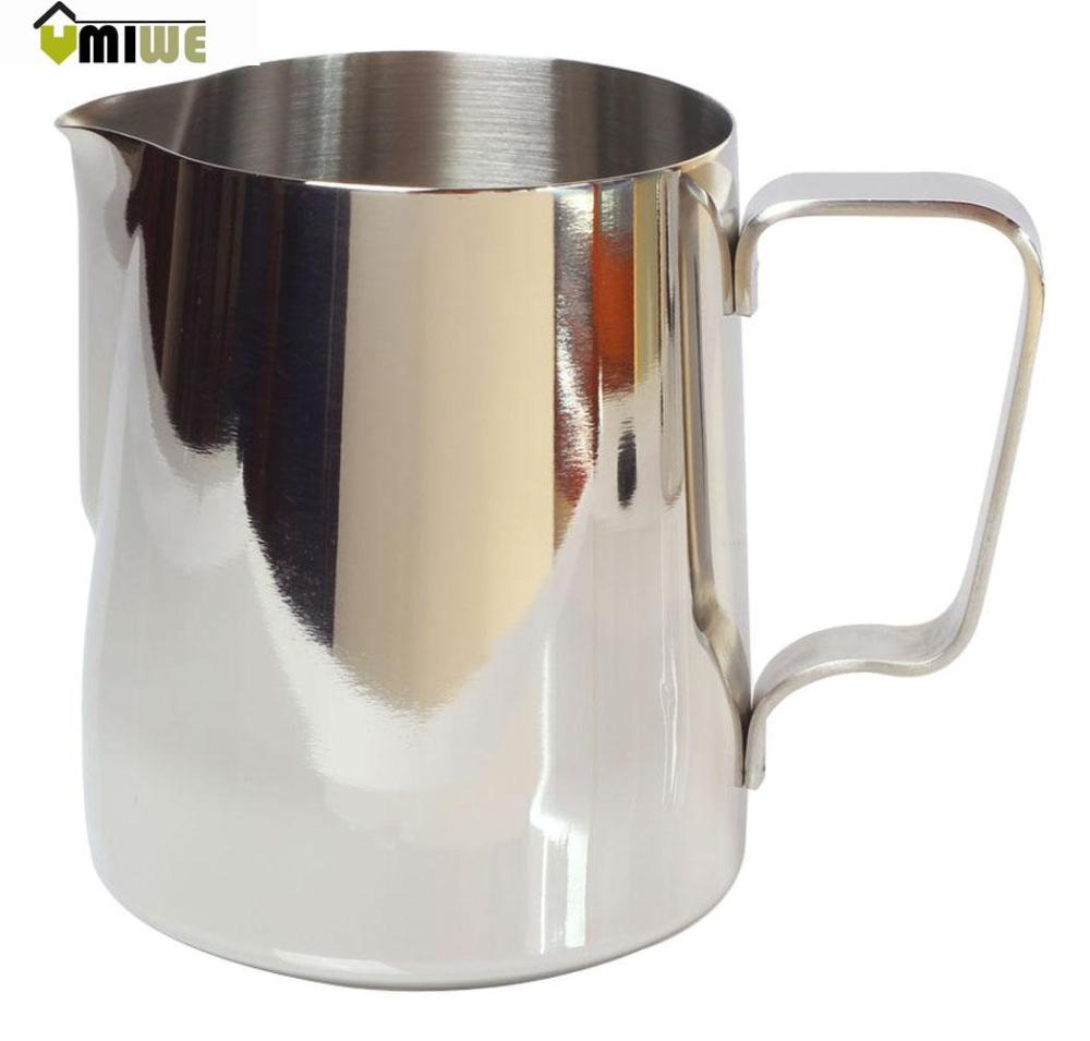 Umiwe Japanese Stype Thicken Stainless Steel Milk Frothing Pitcher (Silver,600ml)(China (Mainland))