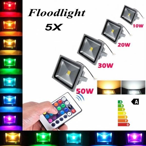 5X High Power Waterproof 10w / 20w / 30W / 50W / 100W LED Flood Light Warm white /Cold White/ Outdoor Lamp Free FEDEX or DHL(China (Mainland))