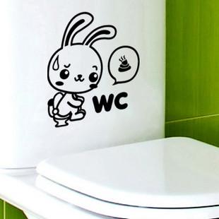 الأرنب melestore المرحاض ملصقات ملصقات الحائط ملصقات الحائط مطبخ مجلس الوزراء أثاث الحمام مرحاض(China (Mainland))