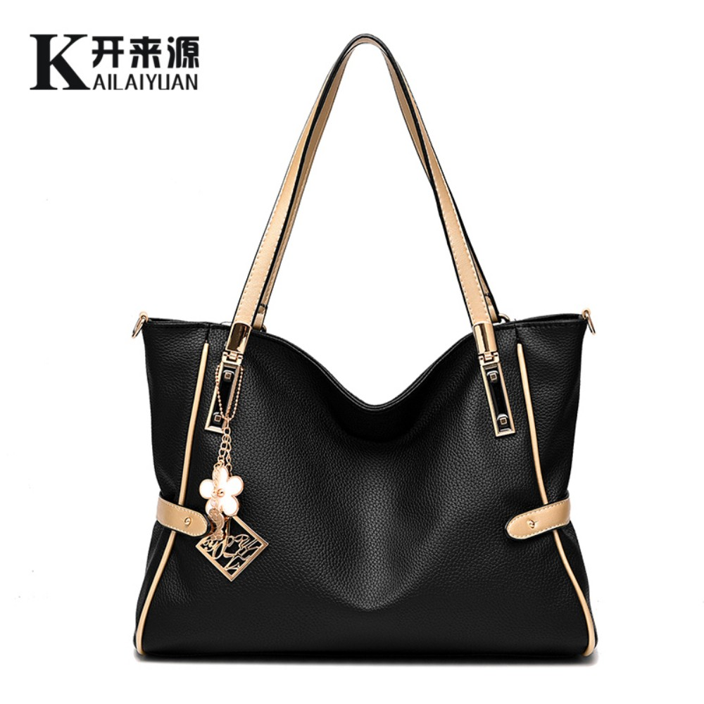 100% Genuine leather Women handbag 2016 New female bag cool style atmosphere fashion handbags Messenger Shoulder Handbag(China (Mainland))