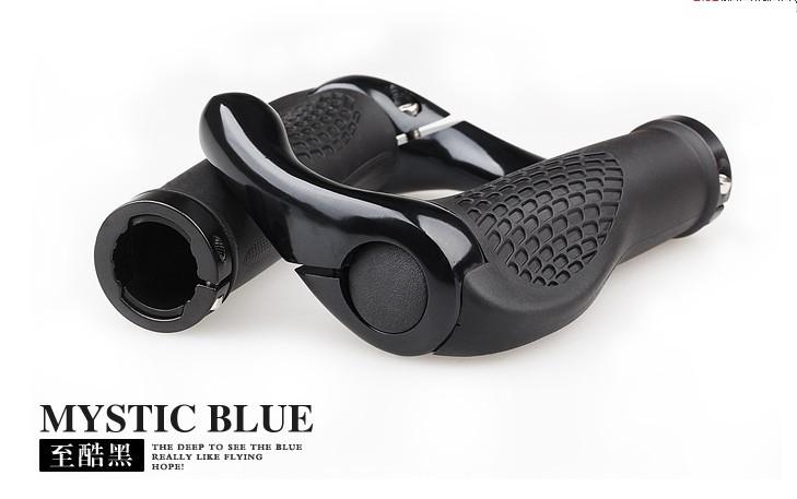 Road Bicycle bike Handblebar Grips Ergonomic Rubber Grips & Aluminum Bar ends Black/white Bike part accessories Bull Horn Design(China (Mainland))