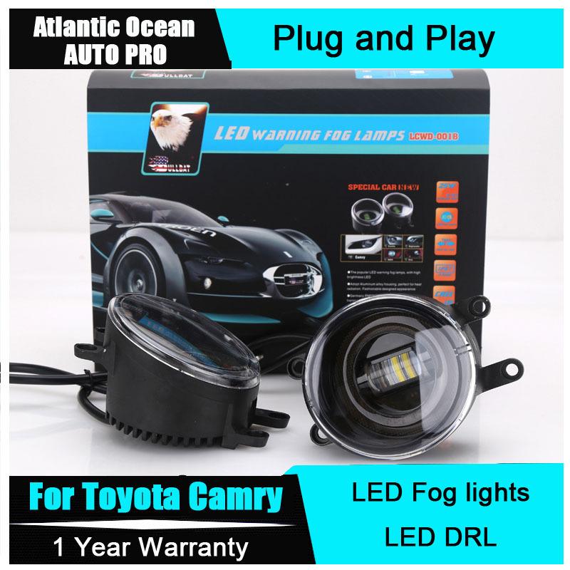 auto pro 2015 for toyota camry led fog lights led drl turn. Black Bedroom Furniture Sets. Home Design Ideas