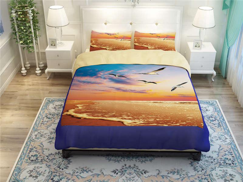 Ropa de cama de lino gemelo del lino del rey