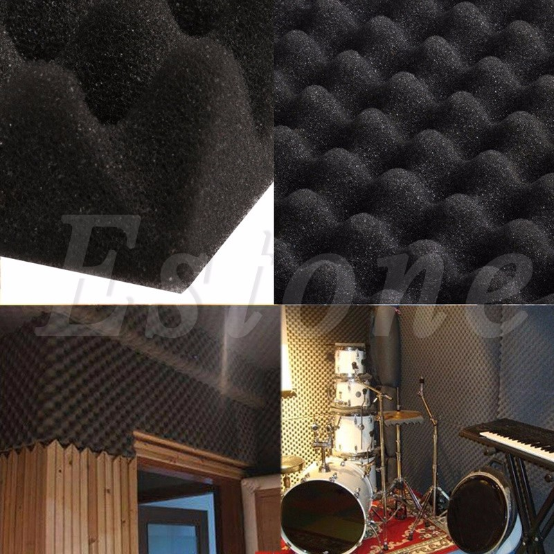 50x50x3cm Acoustic Soundproof Sound Thick Absorption Pyramid Studio Foam Board-F1FB