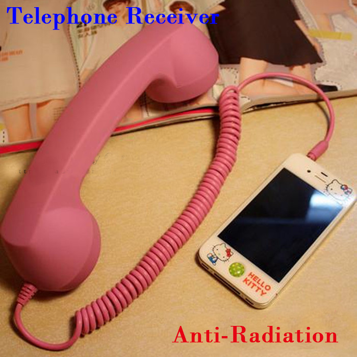 2015 Telephone Receiver 3.5 Retro Headset Earphone Headphone Anti-radiation Mobile Phone Handset For Iphone Computer laptop(China (Mainland))