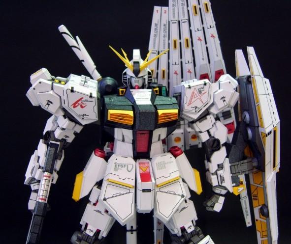 Paper Toys New Fun Cute Puzzle Gundam RARRA RX-93V 3D stereo paper model /DIY toys- 43cm ! Bigger MG - Athongger store