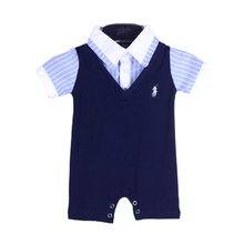 baby boy clothing 2016 summer plaids romper new born baby clothes ropa bebe toddler infant baby boy romper 0-3 6 9 12 months