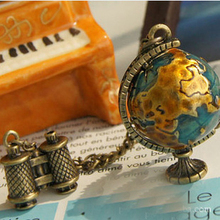 Arrival Fashion Design Hot-Selling Retro Globe Telescope Ball Necklace Women Necklace / Sweater Chain Jewelry For Women 2015LS53