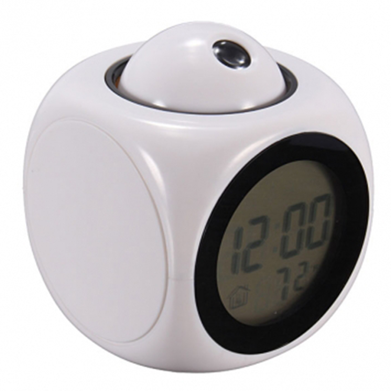 2015 Multifunction LCD Talking Projection Alarm Clock Time & Temp Display(China (Mainland))