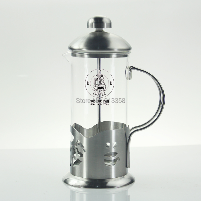 Glass Pot For Coffee Maker : Free Shipping Dedicated French Press Brewing Coffee Maker American Coffee Stainless Glass Coffee ...