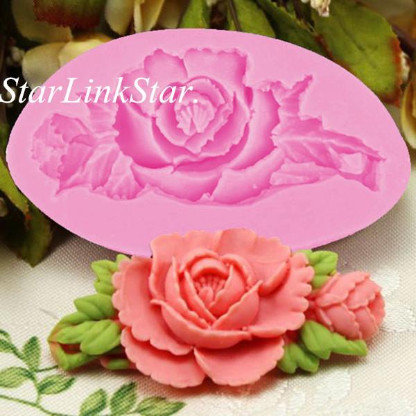 1 pcs 3d rose fleur silicone de cuisson formes fondant for Chambre de sucre gourmet artisanal sugars