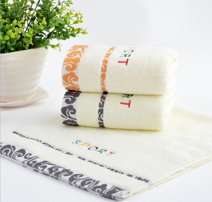 100% Cotton Face Towel Jacquard Embroidery Beach Towels On
