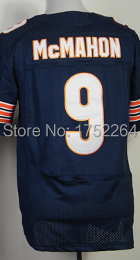 China Free Shipping Best Quality Men's Elite American Football Jersey #9 Jim McMahon Jersey Embroidery Logo,Blue,Cheap Wholesale(China (Mainland))