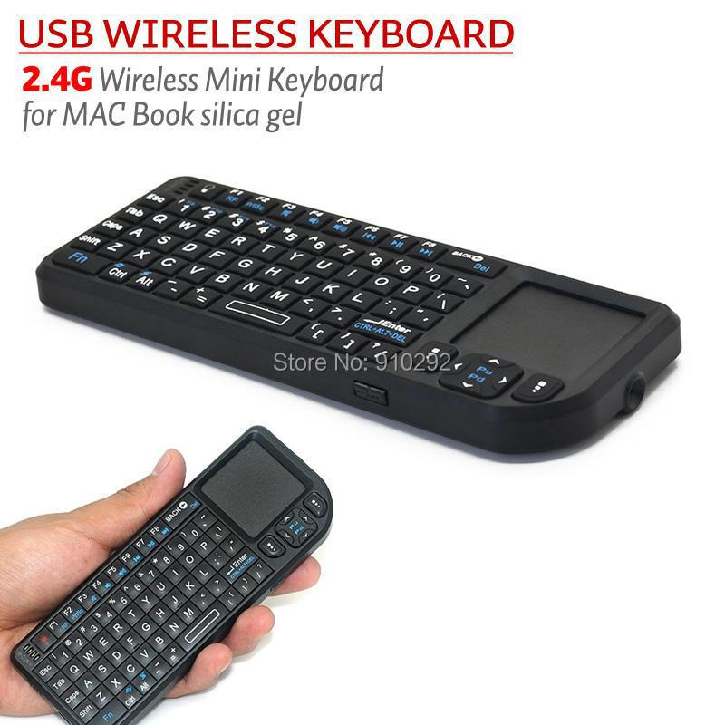 5pcs/lot iPazzPort 2.4GHz Mini Wireless Keyboard RF Touchpad 2.4G Mouse Media Control(China (Mainland))