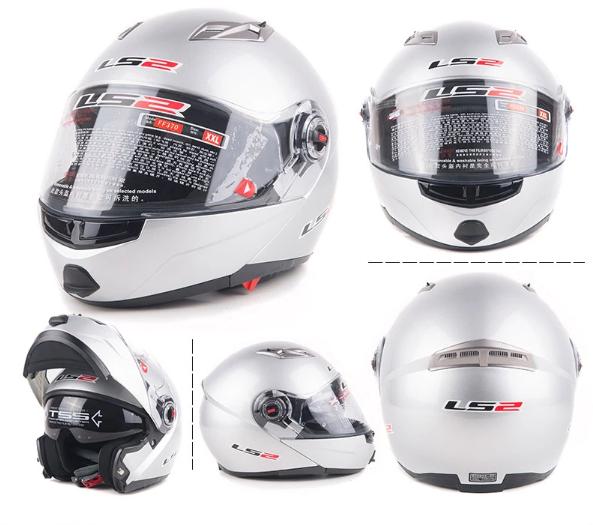 Free shipping dual lens LS2 FF370 motorcycle helmet visor exposing new cost-effective full-face helmet / Orange km Table