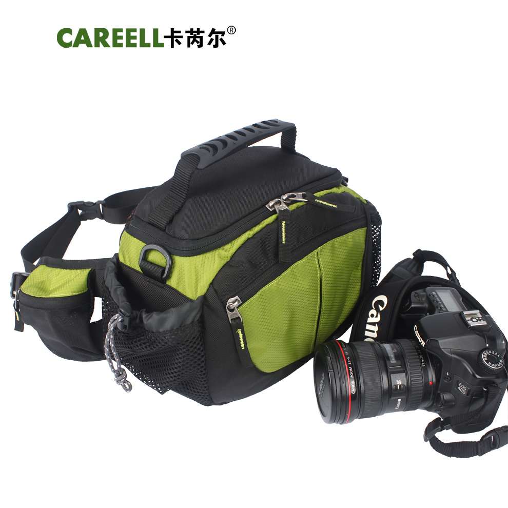 2015 hot sale CAREELL C1314 outdoor photoshot waist pack waterproof slr camera bag ride bag(China (Mainland))