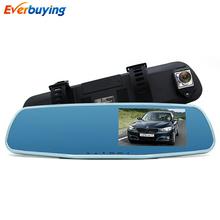 New Dual Lens Car DVR Camera mirror FHD 1080P Video Recorder Night vision Dash Cam Parking Monitor Auto Camera Anti mirror DVRs(China (Mainland))
