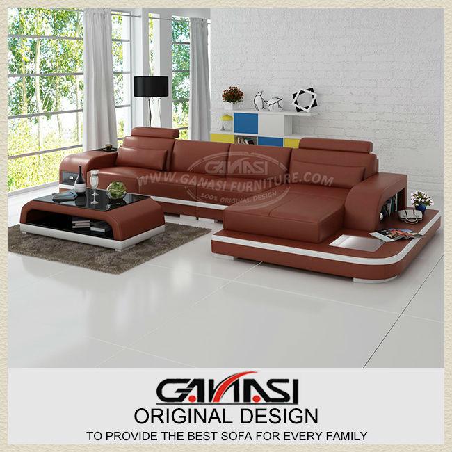 Cheap Designer Leather Corner Sofas: Popular Modern Reclining Sectional-Buy Cheap Modern