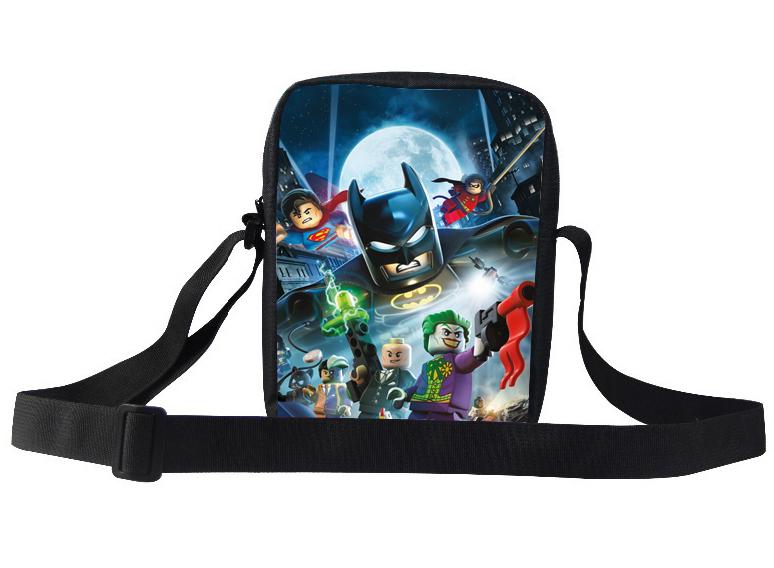 Cool Kids Messenger Bags Children Batman Shoulder Bags SuperMan Hero Baby Girl Cartoon Messenger Bag For Boy Child(China (Mainland))