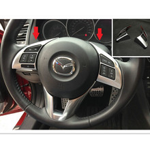 Buy Car styling 2pcs ABS Chrome steering wheel Cover Trim Mazda 6 M6 Mazda Atenza 2015 2014 2013 for $12.39 in AliExpress store