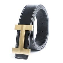 Buy 2017 Solid Brass Luxury H Brand Designer Belts Men High Male Business Genuine Real Leather H Buckle Strap Jeans for $13.21 in AliExpress store