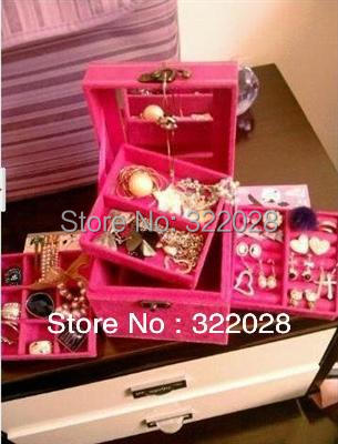 new jewellery box case multideck excellent Storage Boxes & Bins gifts girl,Xma's gift Dropshipping - Bestgifts Trade Co., Ltd. store