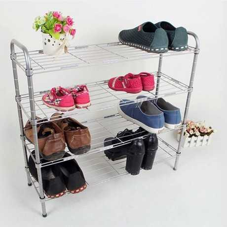 Cheap simple shoe rack stainless steel color three hundred forty-five layer dust storage racks<br><br>Aliexpress