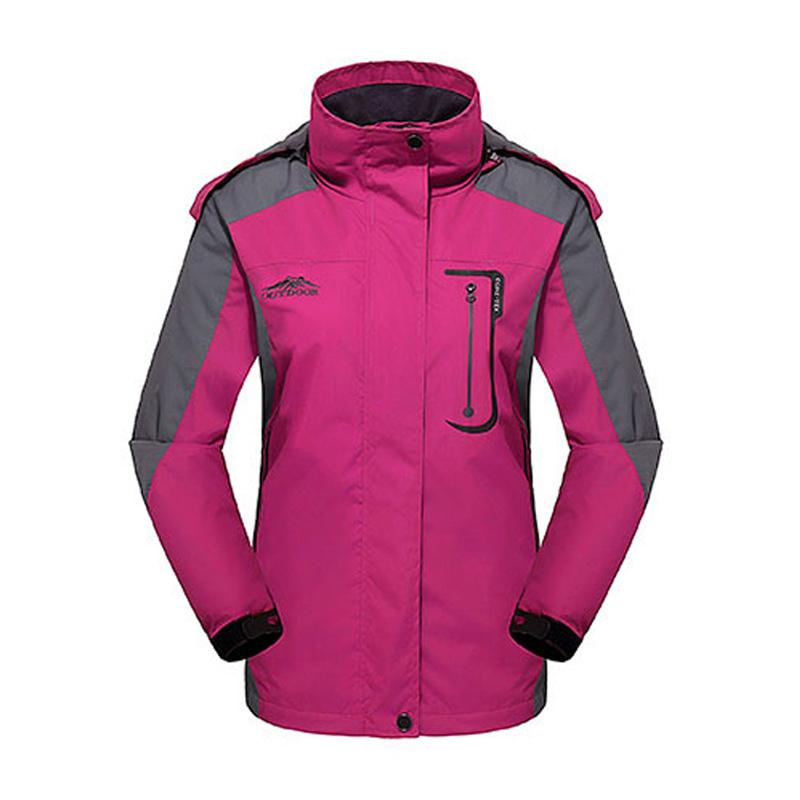 Female Winter Jacket Sport Rain Jacket Waterproof Warm Windbreaker Outdoor Windproof Fleece Hiking Camping Jackets(China (Mainland))