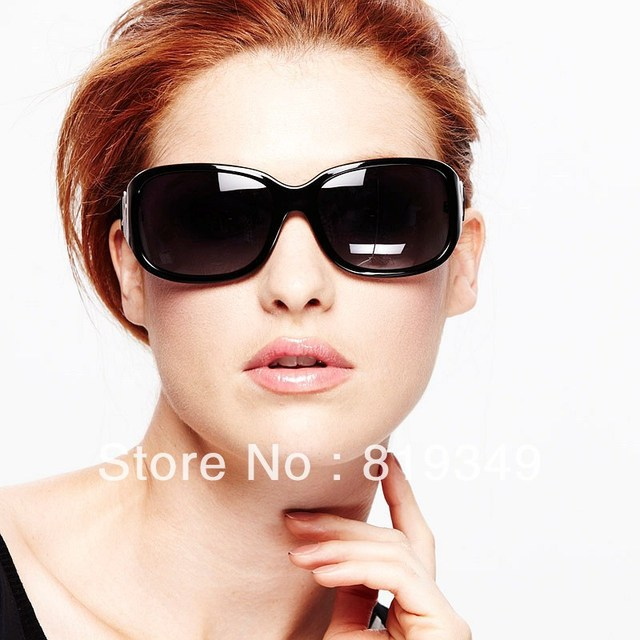 2013 New VANCL Women Sunglasses Leila Fashion Oversized Sunglasses Colored Frames Molded Nose Pads Black Blue FREE SHIPPING