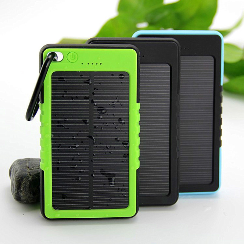 Waterproof Solar Power Bank 5000mah Solar Battery Charger Bateria Externa Portable Charger Powerbank for phone(China (Mainland))