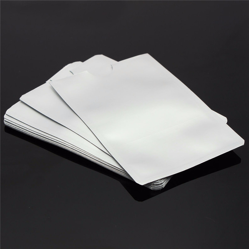 10pcs Silver Anti Scan RFID Sleeve Protector Credit ID Card Aluminum Foil Holder New Free Shipping Durable Quality