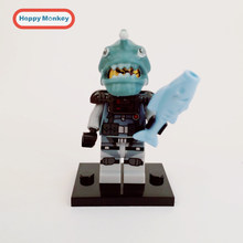 2018 HOT Conjunto de Blocos De Construção Ninjago Garmadon Sharkman Gamma Mestre Wu LEGOINGLYS NYA Ninjago Tijolo figuras Crianças Brinquedos bk37(China)