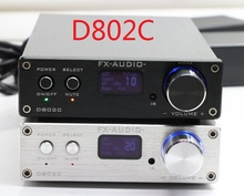 FX-Audio D802C Bluetooth@3.0 Pure Full Digital Audio Amplifier Input USB/AUX/Optical/Coaxial/BT 24Bit/192KHz 80W*2 OLED Display