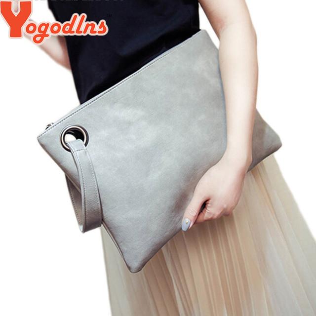 Мода твердые женщин кожаные сумки сцепления женщины конверт сумка сцепления вечерние ...