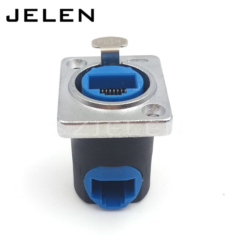 RJ45 Panel Mount connector , RJ45 90 degree elbow connector socket (female), Signal transmission connector(China (Mainland))