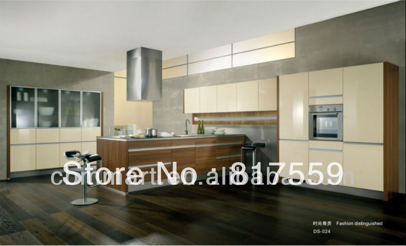 modern wood kitchen 0410-DS024(China (Mainland))