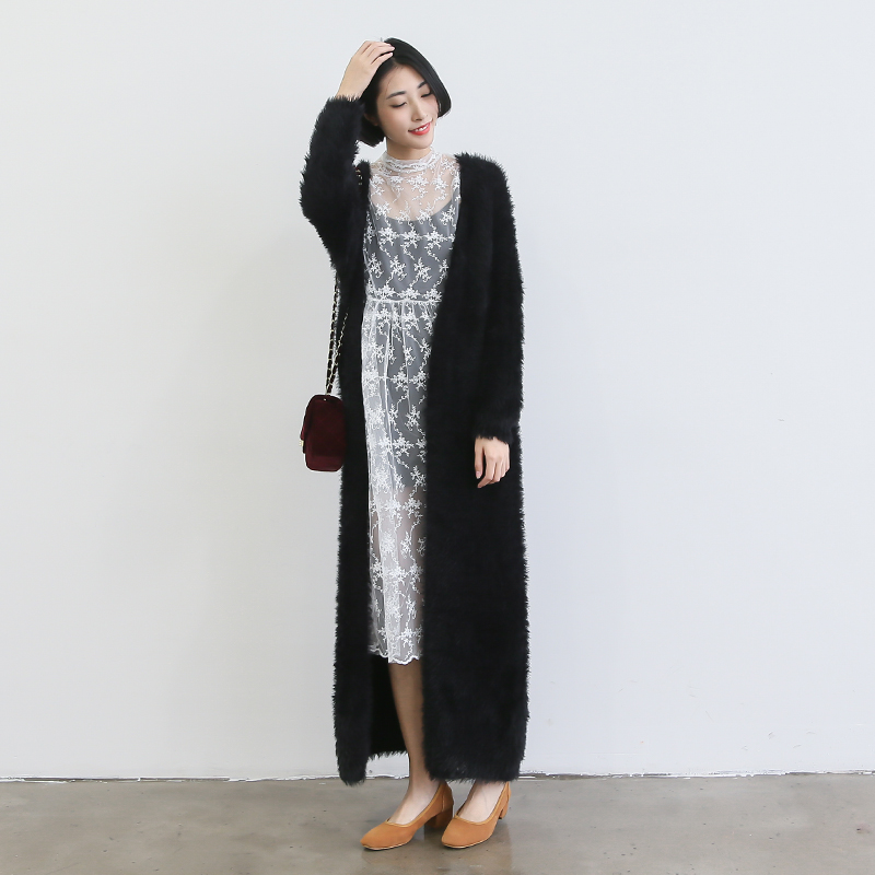 Collection Sweater Coat Long Pictures - Reikian