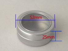 50pcs open window jewellery ornaments aluminium storage can 40ML