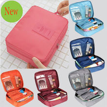 1 pc New Women Cosmetic Bag Makeup Organizer Travel Necessaries Portable make up bags outdoor neccessity(China (Mainland))