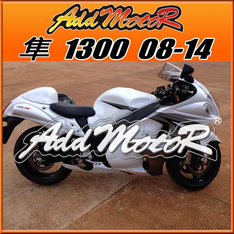 Addmotor Injection Mold Fairings Fit Suzuki Hayabusa GSXR1300 GSX-R 1300 2008-2014 08-14 White+Tank Cover S38510(China (Mainland))