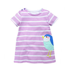 VIDMID New hot summer 2-7 Years Girls Short Sleeve cute rabbits Summer Dress Cotton Casual Dresses for children Kids Clothing(China)