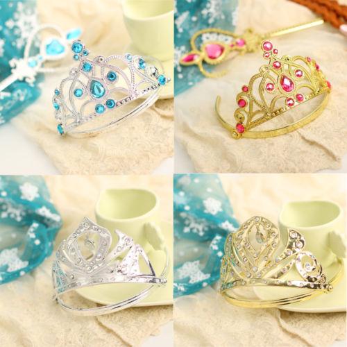 Hot Elsa Anna Frozen Snow Queen Magic Wand Tiara Crown Blonde Braid Wig Hair Set(China (Mainland))