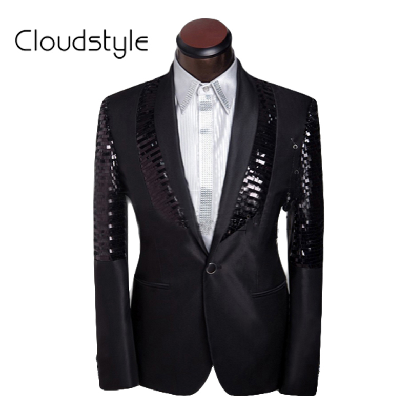 Men Business Suit Costume Homme 2016 Sequined Dress Groom Suits Mens Tuxedo Wedding Suits For