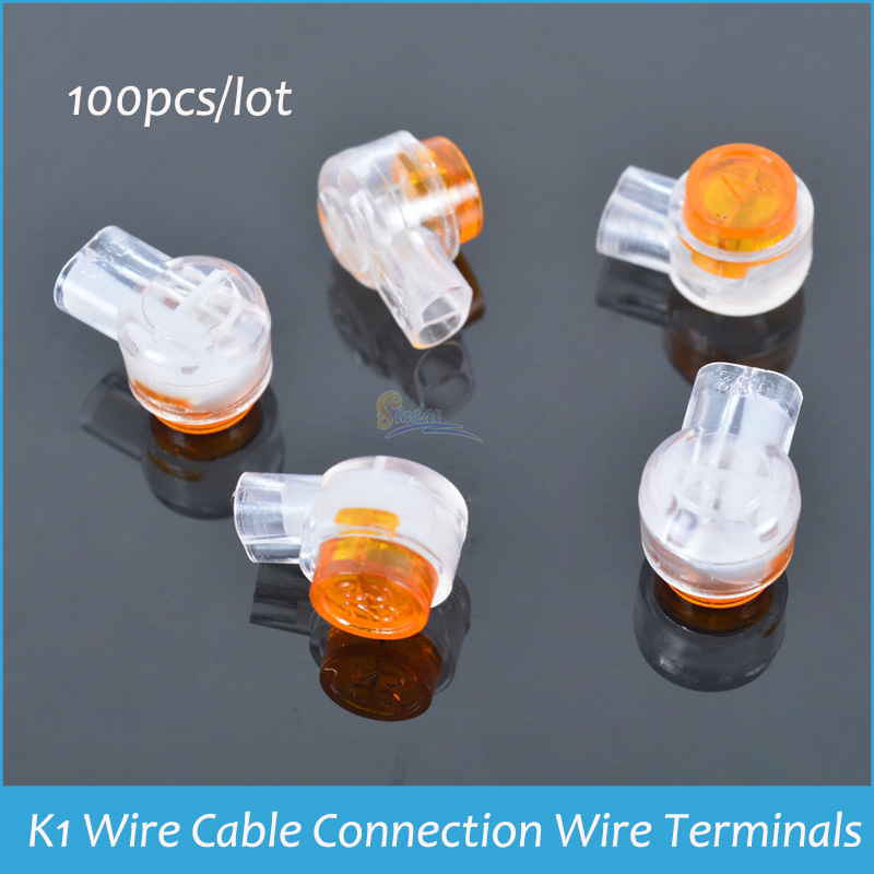 100pcs K1 Wire Cable Connection Wire Terminals Quick-Fit Splicing Head k1 Wire Connector K1 Joint Connector For Telephone Cable(China (Mainland))