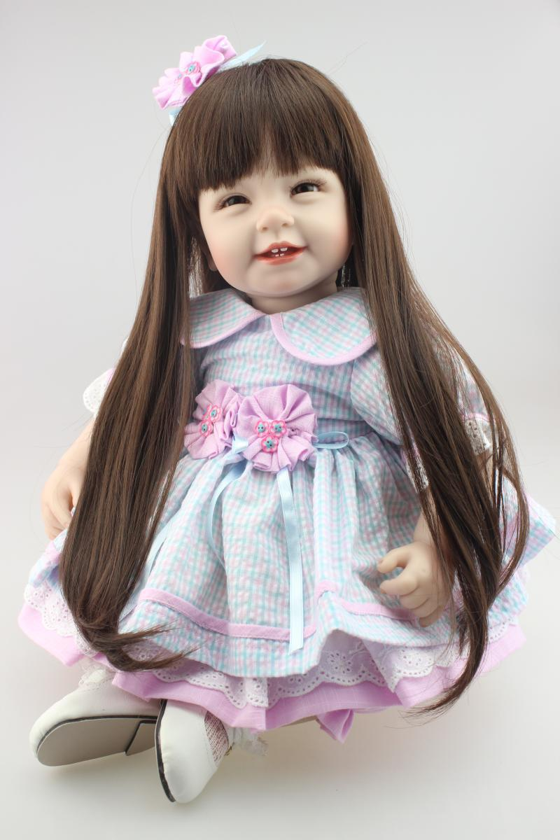 Silicone reborn toddler doll toys for girl, pre-sale lifelike princess dolls play house toy birthday christmas gift brinquedods<br><br>Aliexpress