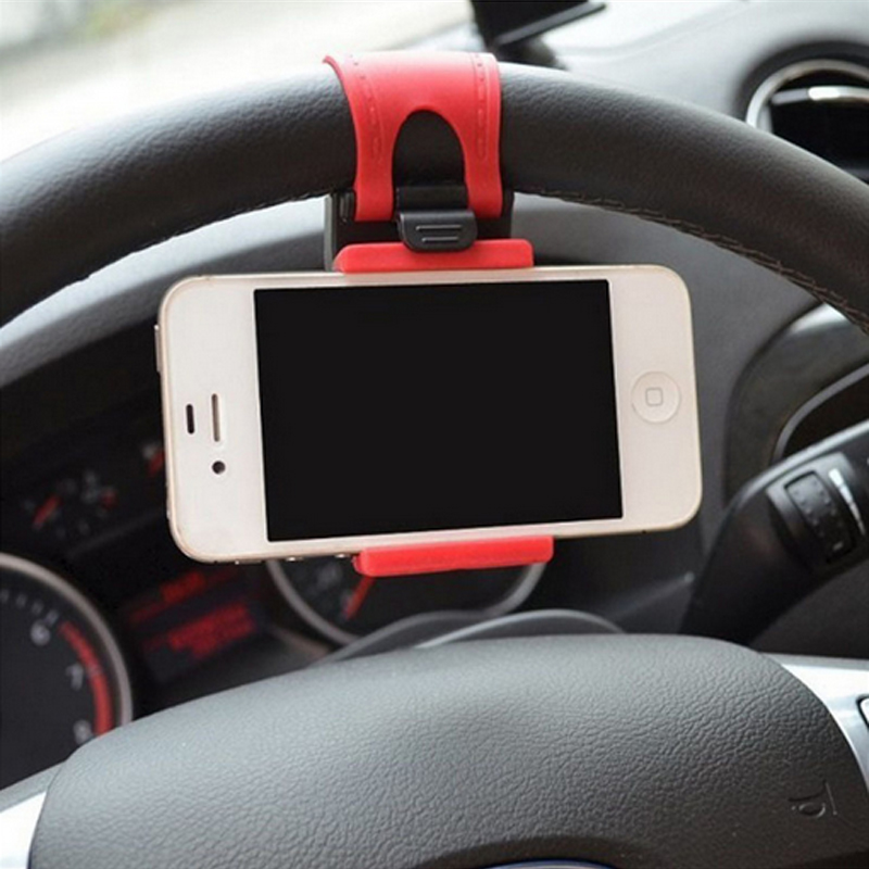 2015 Steering Wheel Mobile Scaffold Vehicle-Mounted Mobile Rack The New Mobile Creative Auto Supplies Car Mobile Phone Holder(China (Mainland))