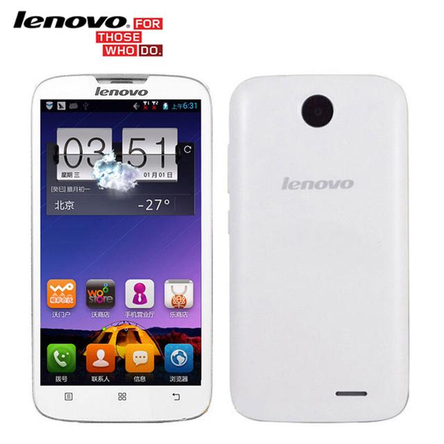 Оригинал Lenovo A560 5.0 Дюймовый IPS Quad Core 512 МБ RAM 4 ГБ ROM Android-смартфоны 3 Г GPS Bluetooth WCDMA Нескольких-языки